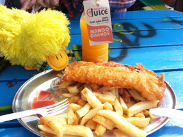 Mittagsessen Südafrika Fish and Chips
